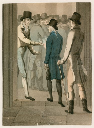John Bellingham assassinating the Rt Hon Spencer Perceval in the Lobby of the House of Commons, 11 May 1812.