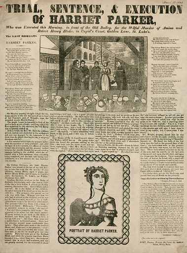 Trial, Sentence, and Execution of Harriet Parker, 1848.