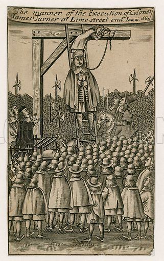 Execution of James Turner in 1663.