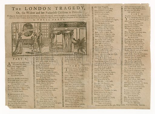 The London Tragedy, or the Widow and her Fatherless Children in Distress.