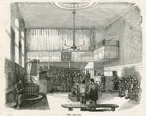 Newgate Chapel. From the Illustrated London News 1850.