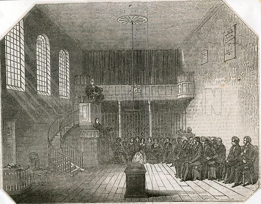 Newgate Chapel. From the Illustrated Times 1857.