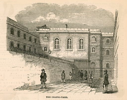 Newgate prison. From the Illustrated London News 1850.