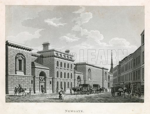 Newgate Prison. Exterior.