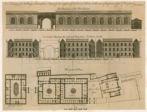 Design for Newgate prison.