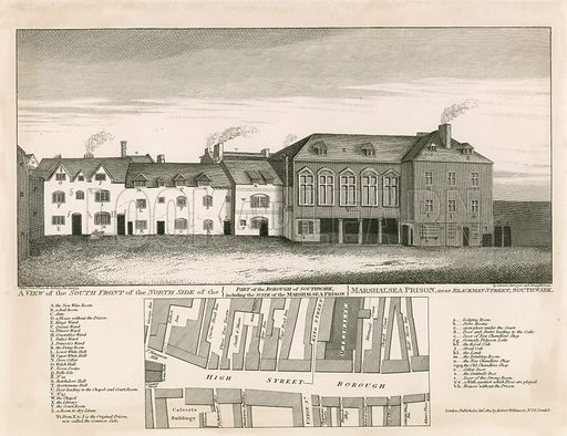 Marshalsea Prison, London. Published 1812.