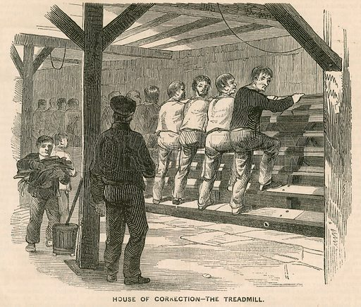 Coldbath Fields Prison. House of Correction – the treadmill. From the Historic Times 1850.