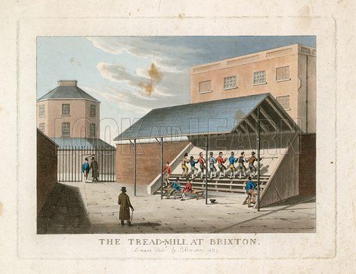 The treadmill at Brixton prison. 1822.
