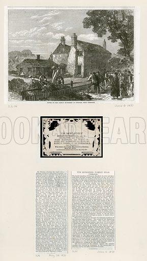 Family murdered at Denham near Uxbridge. In Memory card. 1870.