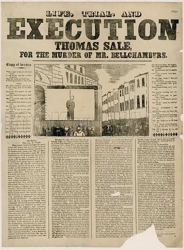 Execution of Thomas Sale for the murder of Mr Bellchambers, 1840.