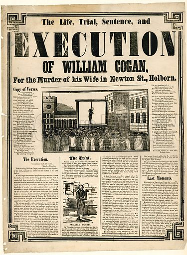 Execution of William Cogan for the murder of his wife in Newton St, Holborn.