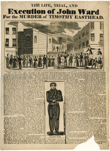 Execution of John Ward for the murder of Timothy Easthead.