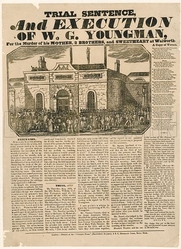 Execution of WG Youngman at Horsemonger Lane Gaol.