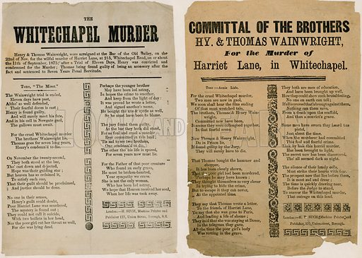 The Whitechapel Murder, 1875. Verses.