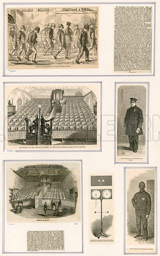 Pentonville prison, London. From Illustrated London News and Mayhew.