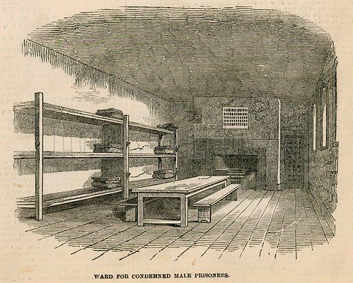 Newgate prison. Ward for condemned prisoners. 1850.