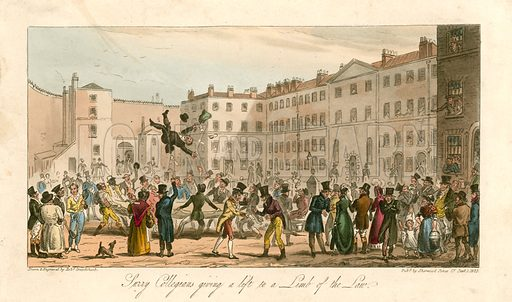 Collegians giving a lift to a limb of the law. 1825.