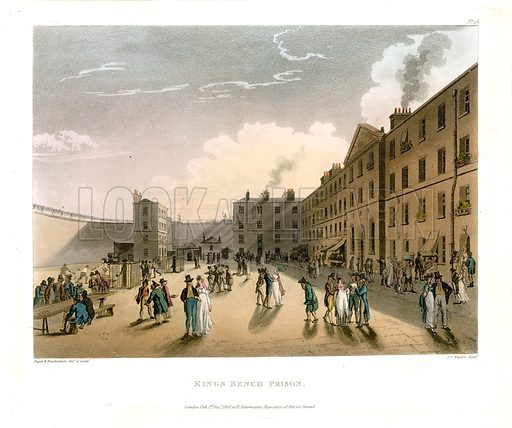 King's Bench Prison. Published 1808.