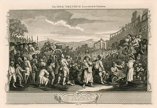 The idle apprentice executed at Tyburn.