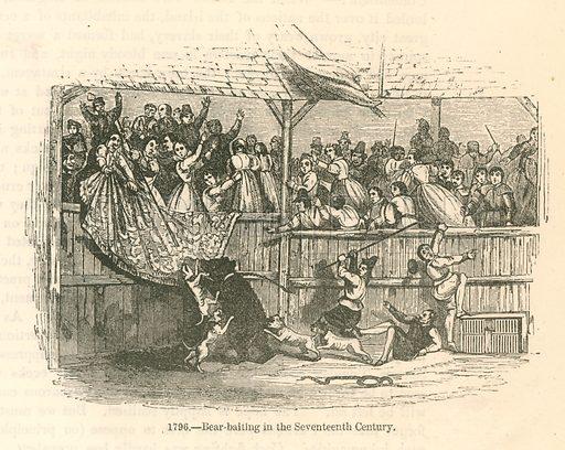 19th century reconstruction of a bear creating panic.