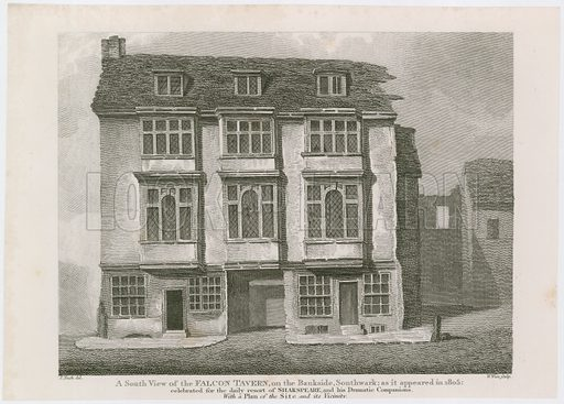 The Falcon Tavern on the Bankside, Southwark. As it appeared in 1805.