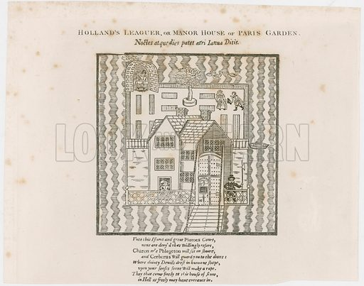 Frontispiece to Hollands Leaguer, 1632. Paris Garden.