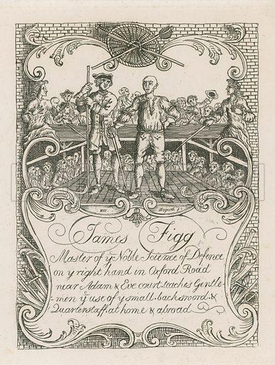 James Figg's trade card designed by Hogarth.