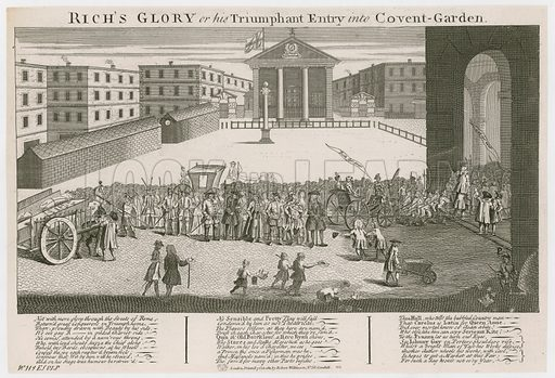 Rich's Glory or his Triumphant Entry into Covent Garden. Inauguration of first Covent Garden theatre.