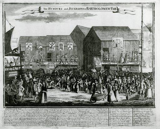 Bartholomew Fair. Published 1733.