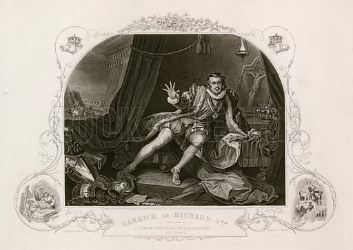 Garrick as Richard III from Hogarth's painting of 1745.