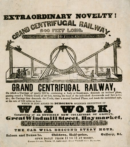 Grand centrifugal railway. Advertisement.