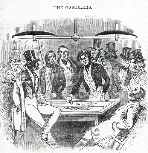 The Gamblers. From the London Saturday Journal, 19 June 1841.
