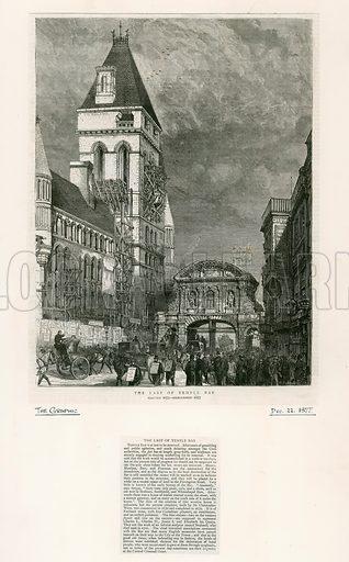 Temple Bar, London. Demolition, 1877.