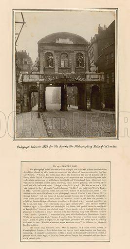Temple Bar, London. Photograph taken in 1878.