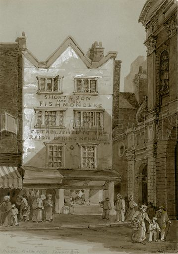 Temple Bar, London. The Old Bulk Shop. Original artwork.