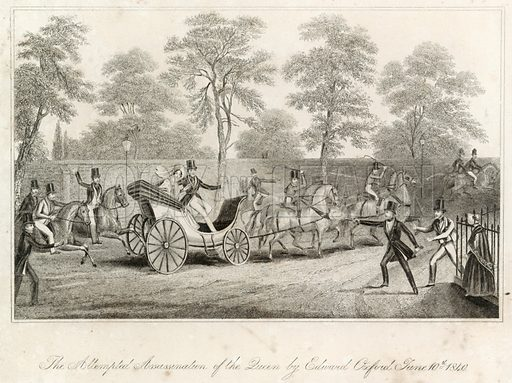 The attempted assassination of the Queen by Edward Oxford, 10 June 1840.