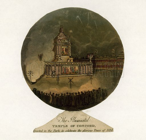 Temple of Concord to celebrate the Peace of 1814.