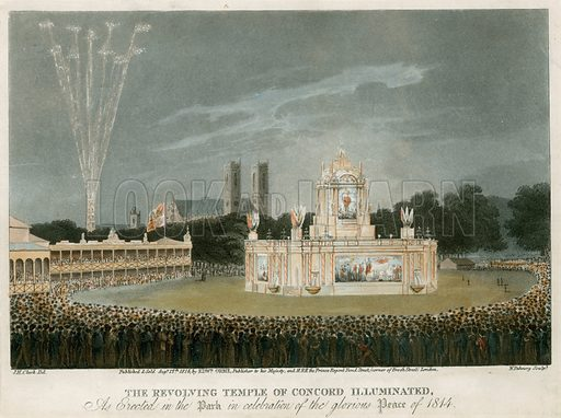 The Temple of Concord created for the Peace of 1814.