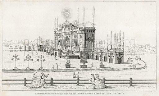 Temple in honour of the Peace of Aix la Chapelle 1749.