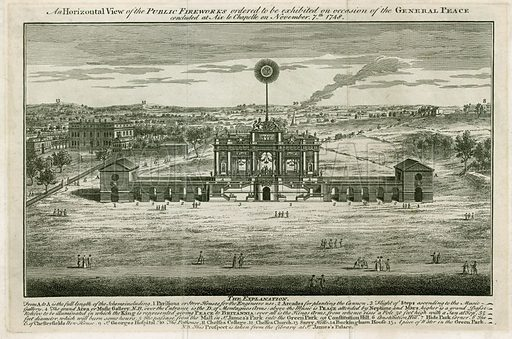 Temple in honour of the Peace of Aix la Chapelle 1749.