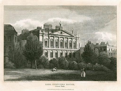 Spencer House, Green Park. Published 1815.
