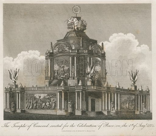 Temple of Concord erected for the Peace of 1814.