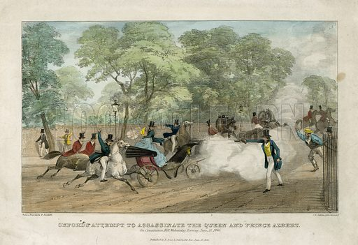 Edward Oxford's attempt to assassinate the Queen and Prince Albert, 10 June 1840.