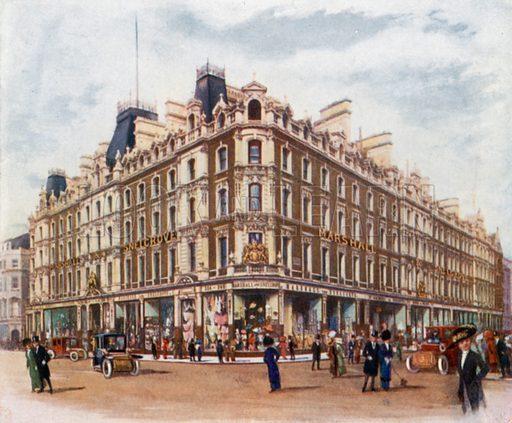 Marshall & Snelgrove, of Oxford Street and Vere Street. From London's Social Calendar (Savoy Hotel, c 1915).