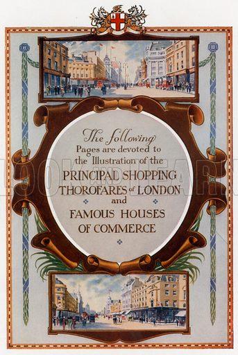 London Shopping. From London's Social Calendar (Savoy Hotel, c 1915).