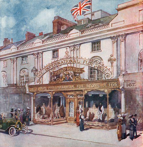 The International Fur Store at 162/163 Regent Street. From London's Social Calendar (Savoy Hotel, c 1915).