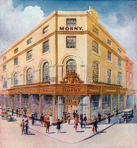 Morny Freres at 201 Regent Street. From London's Social Calendar (Savoy Hotel, c 1915).