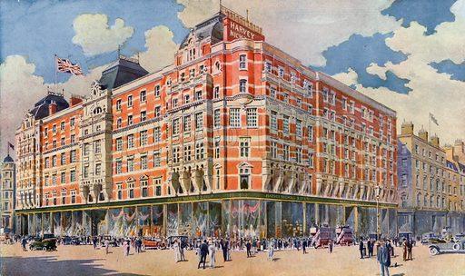 Harvey Nichols in Knightsbridge. From London's Social Calendar (Savoy Hotel, c 1915).