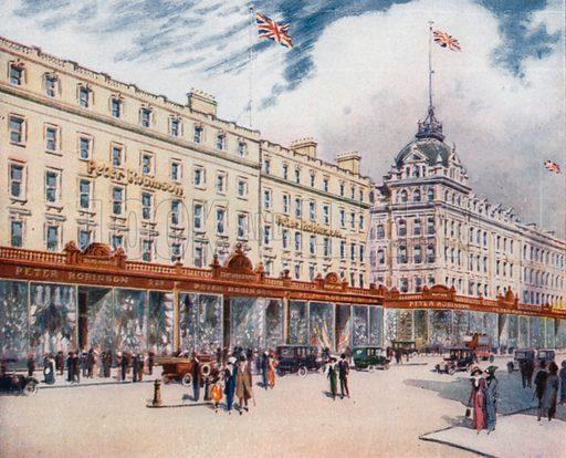 Peter Robinson. From London's Social Calendar (Savoy Hotel, c 1915).