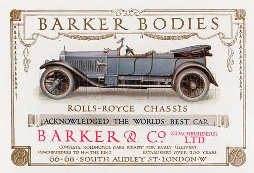 Barker Bodies. From London's Social Calendar (Savoy Hotel, c 1915).